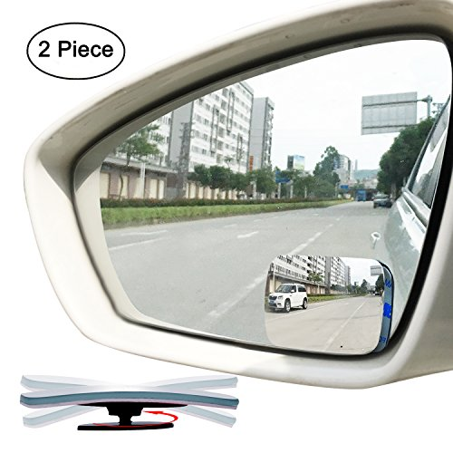 Sway Adjustable Fan Shaped Blind Spot Mirror 2 Round Frameless HD Glass Convex Glass Rear View Mirror for All Cars SUV Truck Pack of 4 360/° Rotate